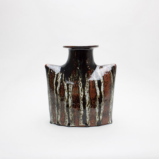 Tenmoku Vase With White Dec | By Callum Trudgeon