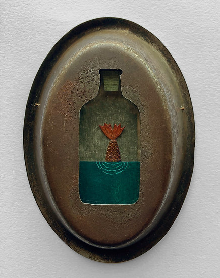 Mermaid in a Bottle | By Hannah Battershell