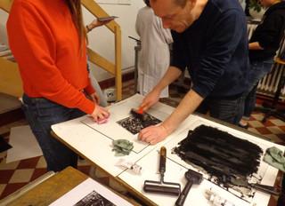 Initiation à la gravure pour les cours préparatoire et pluridisciplinaire