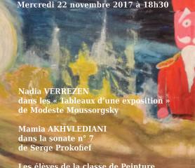 """Concert Exposition autour de l'œuvre """"les tableaux d'une exposition"""" de Modeste Mousso"""