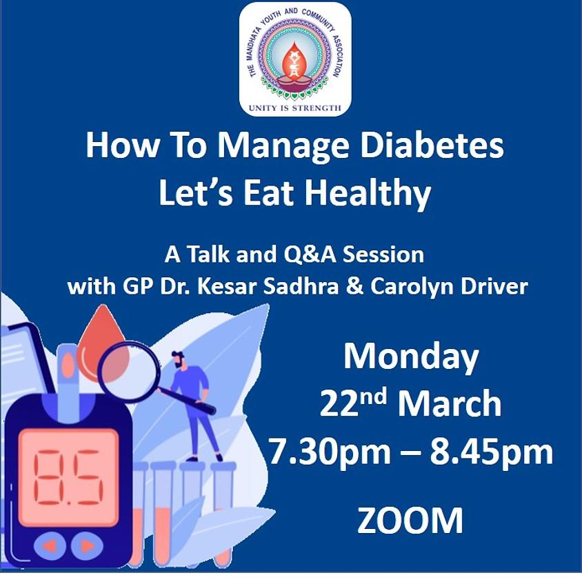 Diabetes Health Talk & Eating Healthy
