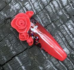 Tiny 4D acrylic roses