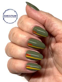 Gel polish on natural nails.