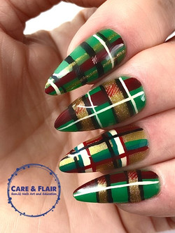 It's plaid to see...Simplicite full cover gel nails