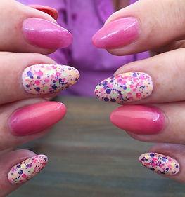 Sprinkles and pink overlays in Polytek.j