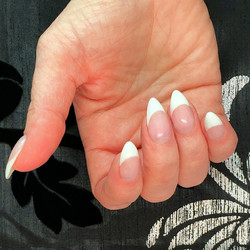 Hard gel classic pink and white french