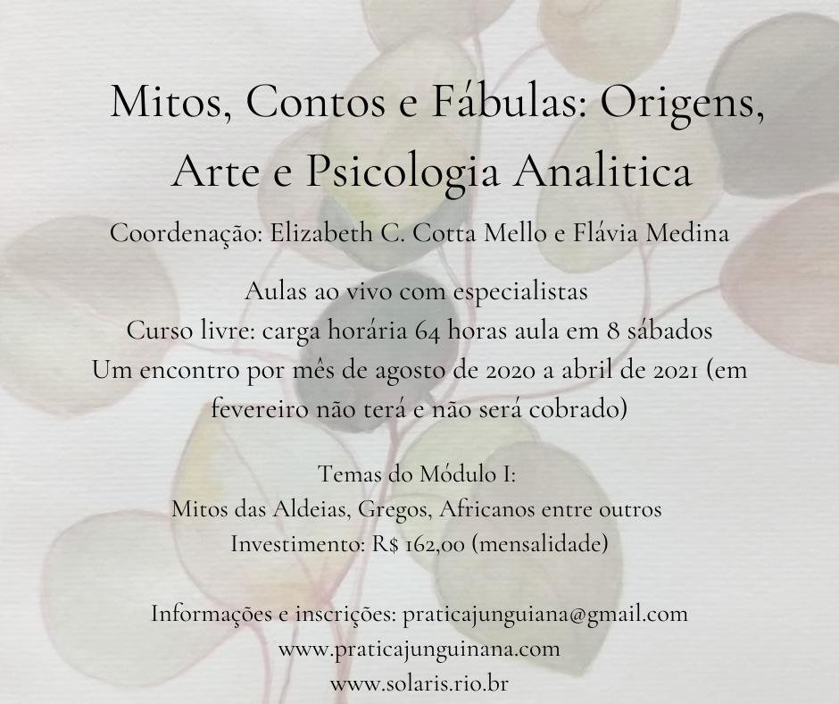 Curso de Mitos, Contos e Fábulas: início 22 de agosto