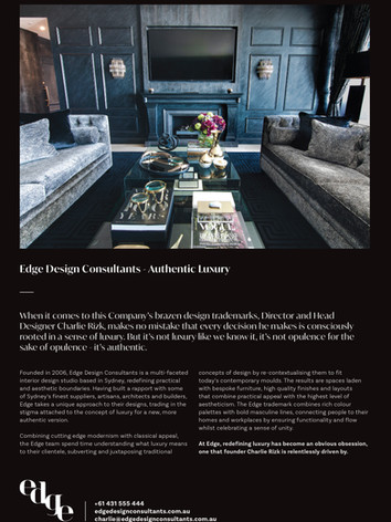 Robb Report - The Design Issue August 2020
