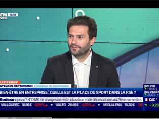 Sylvain Reymond, cofondateur de YOurmission. sur BFM Business.