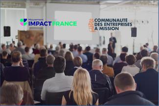 """YOurmission. adhère au """"Mouvement Impact France"""" et à la """"Communauté des Entreprises à Mission""""."""