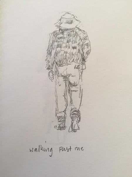 Walking past me