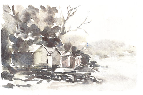 Boat House - Watercolour on 300gsm