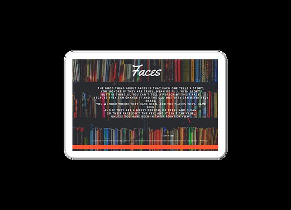 """""""Faces"""" Bubble-free Sticker"""