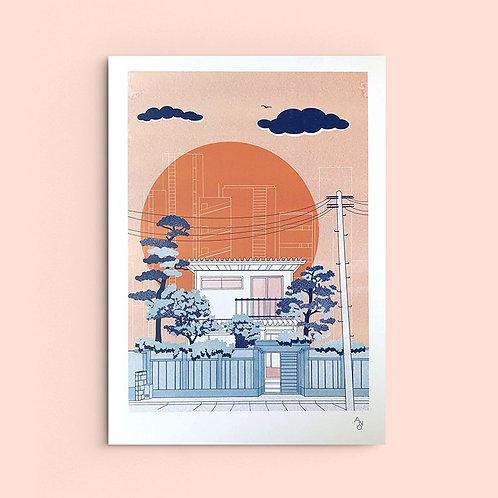 A3 print Machiya
