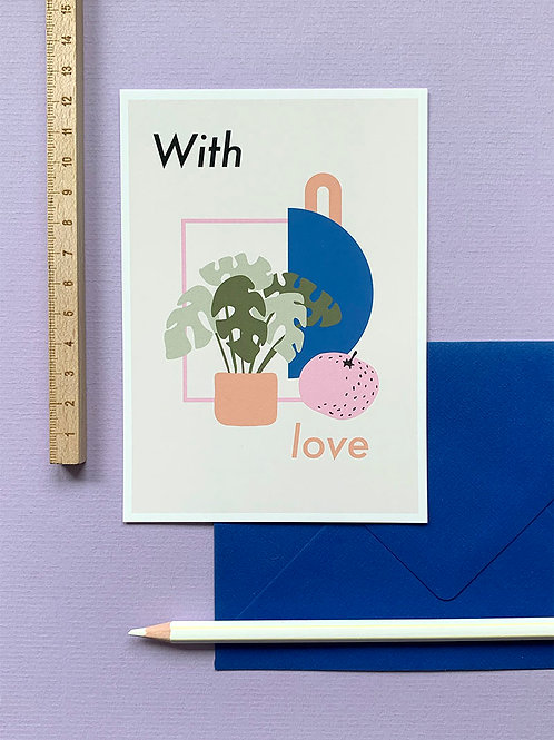 With Love card + envelope