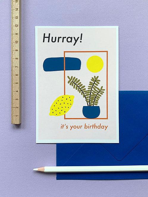 Hurray card + envelope