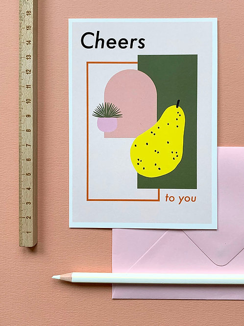 Cheers To You card + envelope