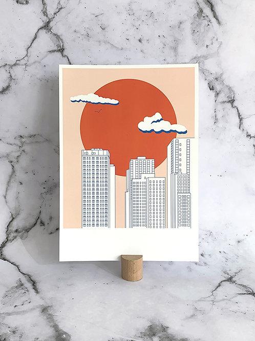 A4 print Red Sun
