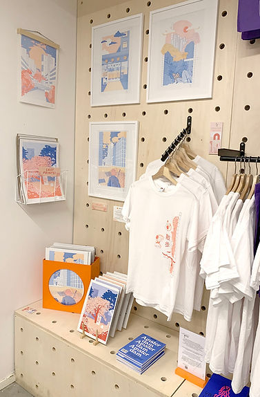 riso print t-shirts japanese design