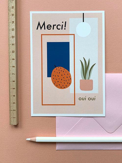 Merci card + envelope