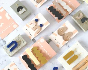 earring + hairclips