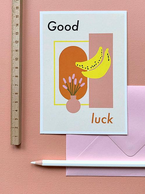 Good Luck card + envelope