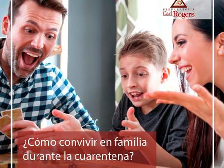¿Cómo convivir en familia durante la cuarentena?
