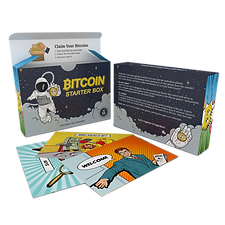 Bitcoin Starter Box with example cards