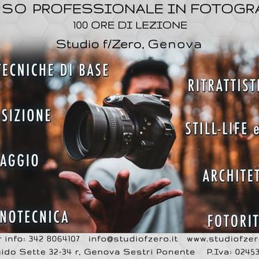 Corso Professionale in Fotografia - Studio f/Zero Genova