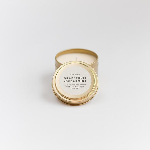 GRAPEFRUIT + SPEARMINT TRAVEL TIN CANDLES