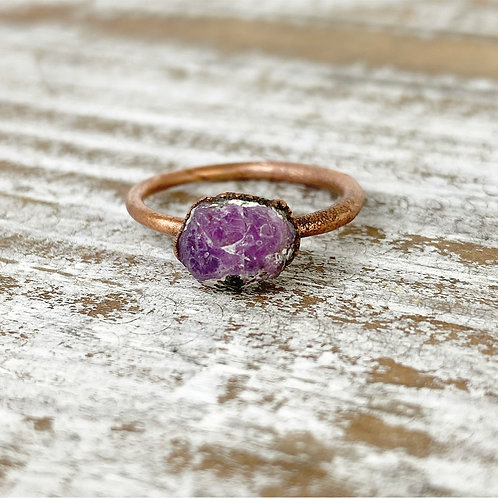 RAW RUBY RING | RED RUBY STACKING RING | REAL RUBY JEWELRY