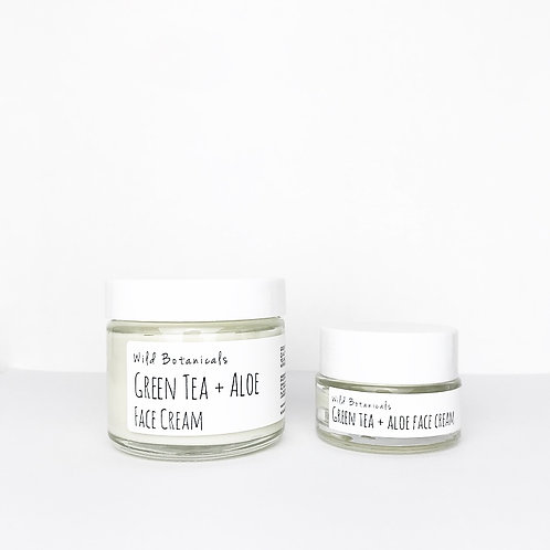 2oz Green Tea and Aloe Face Cream