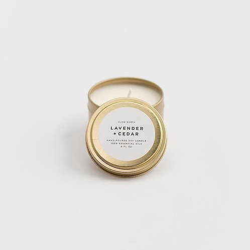 LAVENDER + CEDAR TRAVEL TIN CANDLES