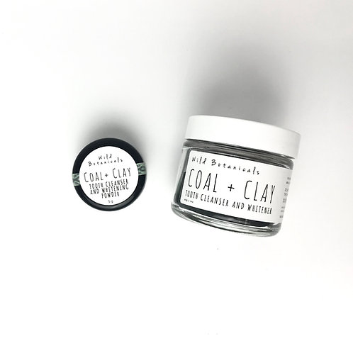Coal and Clay Tooth Powder
