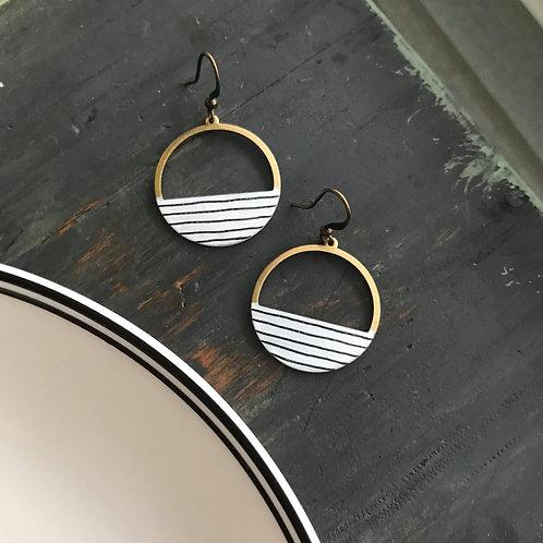 Pinstripe Hoop Earrings