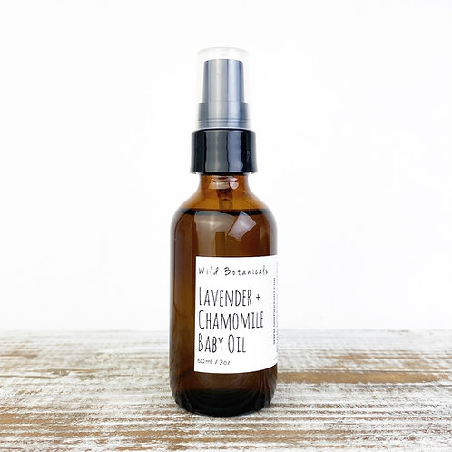 2oz Lavender and Chamomile Baby Oil