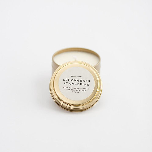 LEMONGRASS + TANGERINE TRAVEL TIN CANDLES
