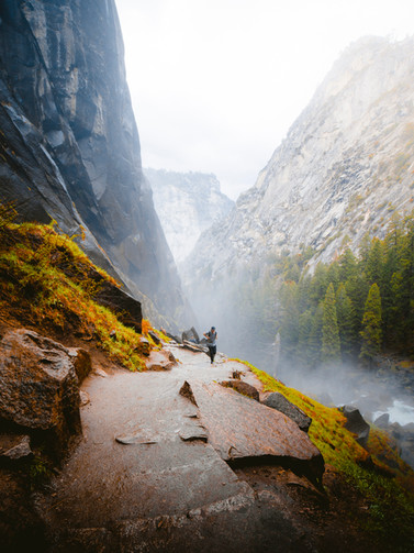 Mist Trail in Yosemite National Park