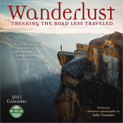 "Wanderlust 2021 Wall Calendar ""Trekking the road less traveled"""