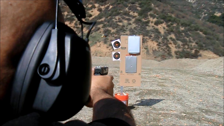 Student target shooting