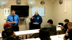 Instructor teaching a course