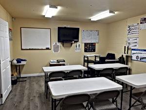 Interior of Marshall Academy & Range classroom
