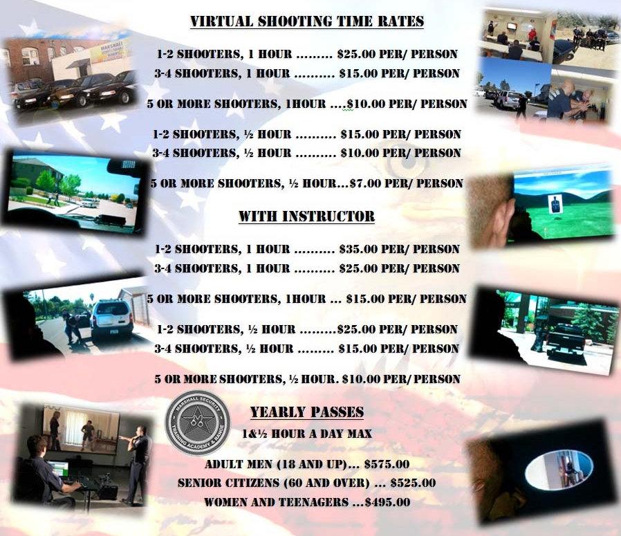 Virtual Range Price List