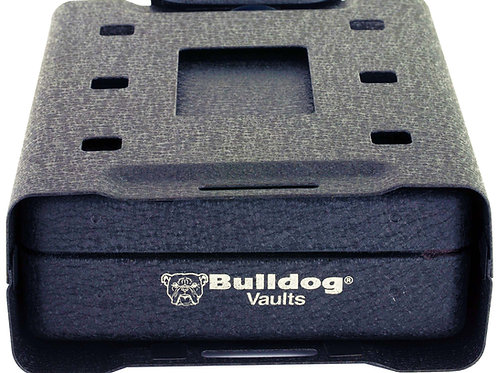 "BULLDOG CASES, QUICK VAULT, SAFE, 11""X7""X1.8"", 6"" SECURITY CABLE INCLUDED, BLACK"