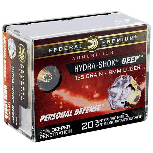 FED HYDRA-SHOK DEEP 9MM 135GR HP 20