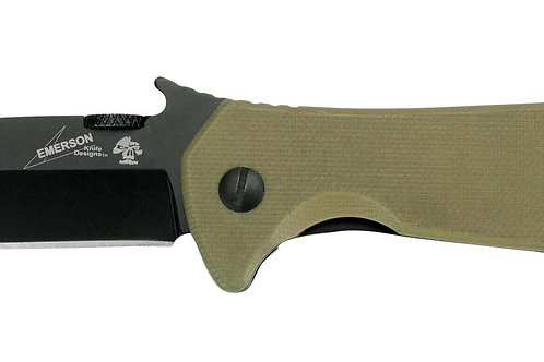 "KERSHAW, EMERSON CQC, 3.25"" FOLDING KNIFE, SPEAR POINT, PLAIN EDGE, G10 COYOTE B"