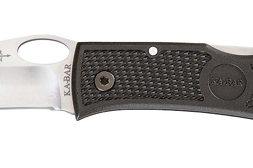 "KABAR, Dozier, Hunter, 3"" Folding Knife, Clip Point, Plain Edge, AUS 8A/Satin, B"