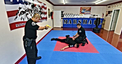 Handcuffing drill with partner