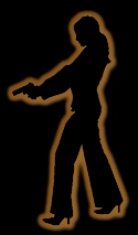 Silhouette of a Woman with Gun