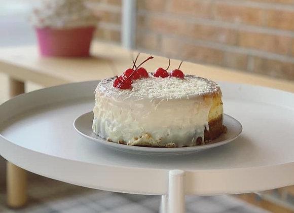 White Cherry Cheesecake